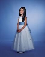 Flower Girl Dress Style 23111 (white & light blue) - Forever Yours