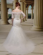Wedding Dress Style VE8677 back view - Venus Bridal